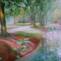 A müncheni Englischer Garten 35x50