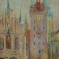 Emlékezetes torony Münchenben 47,5x32